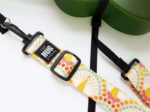 Hug Strap for Ukulele Pastel Peacock