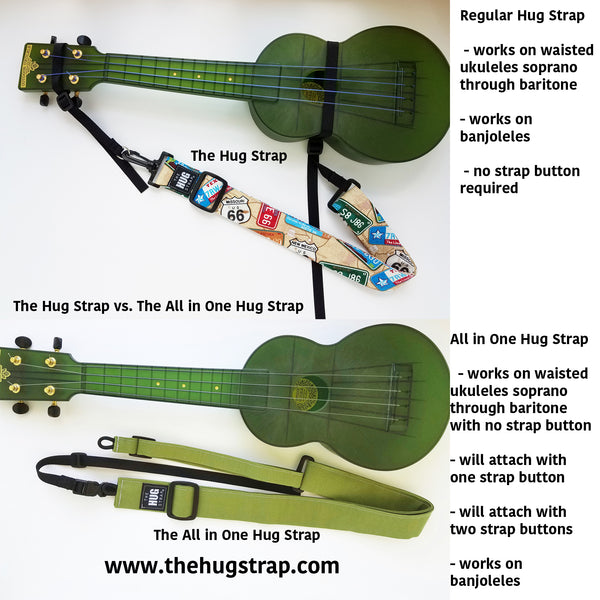 Hug Strap for Ukulele Day of the Dead Pets