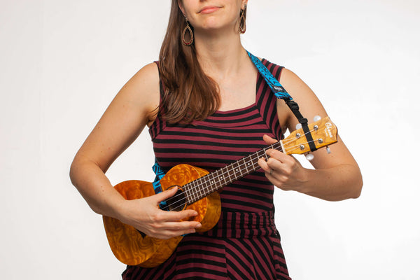 Ukulele Strap ALL in ONE Hug - Frogs