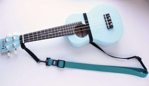 The Hug Strap for Ukulele Teal Uke Strap