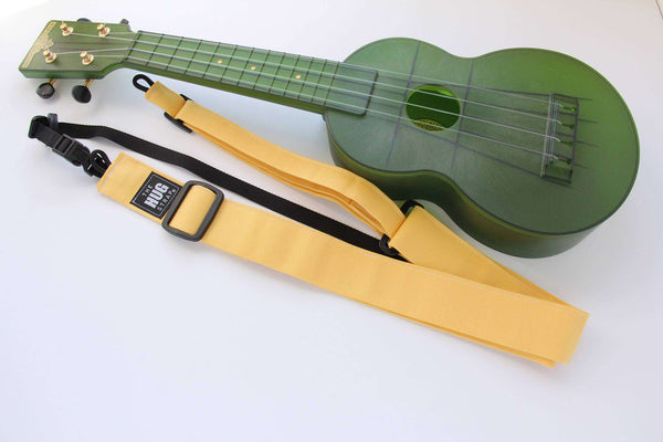 Ukulele Strap All in One HUG Yellow Canvas