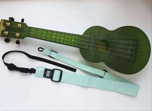 Ukulele Strap All in One Hug Mint Green Canvas