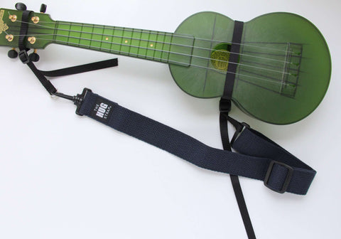 "Hug Strap for Ukulele Navy Webbing 1 1/2"" wide"