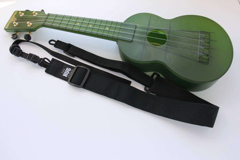 Ukulele Strap All in One HUG Strap Black Canvas