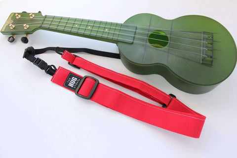 Ukulele Strap, All in One HUG Strap, Red Canvas
