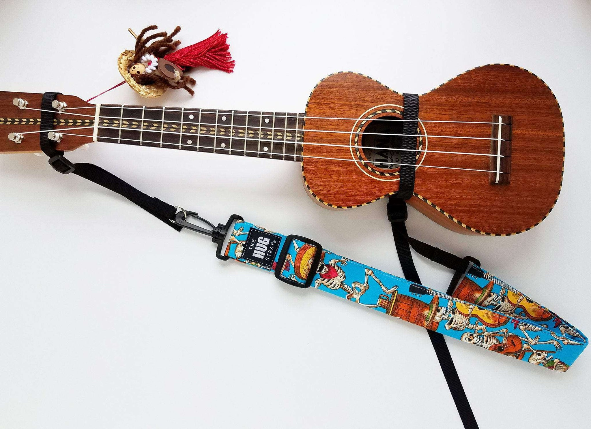 Hug Strap for Ukulele Skeleton Party