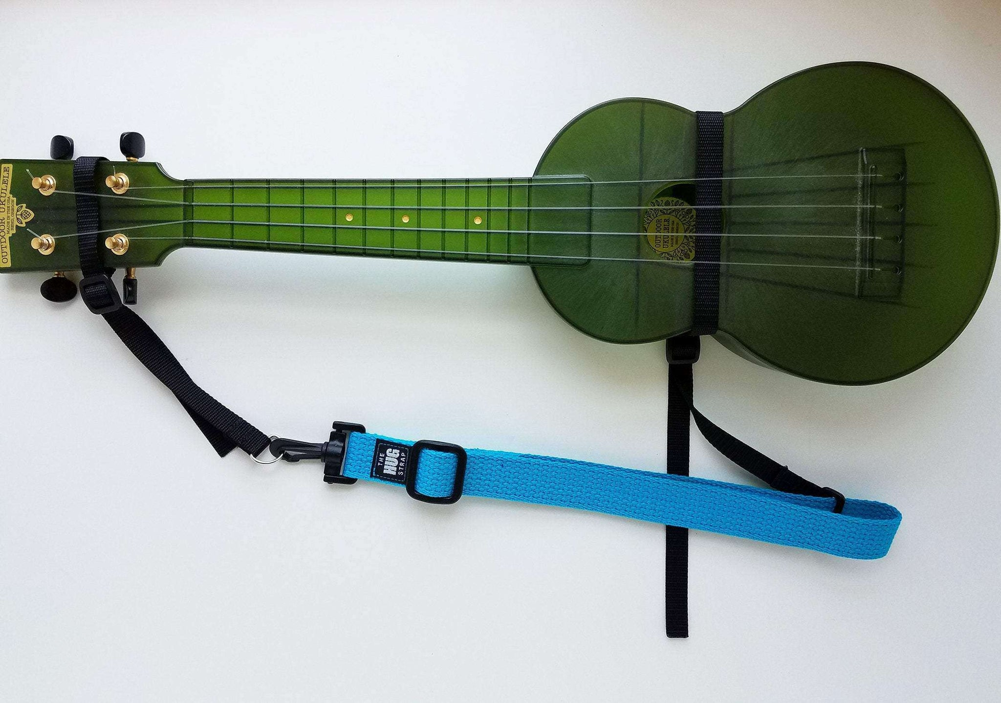 "Hug Strap for Ukulele Turquoise 1"" wide"