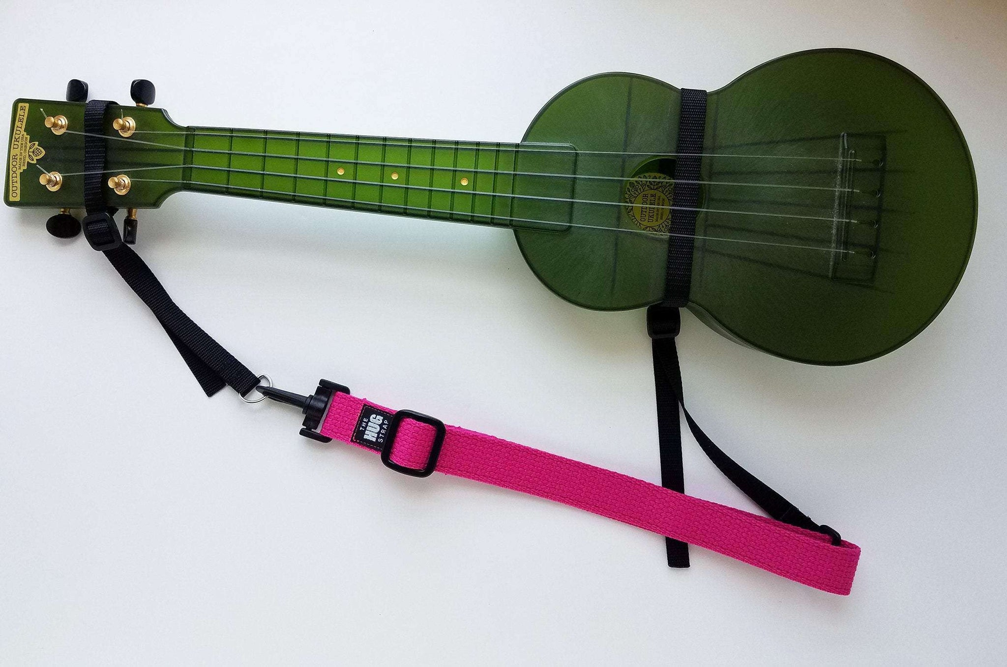 "Hug Strap for Ukulele Fuchsia Pink 1"" wide"