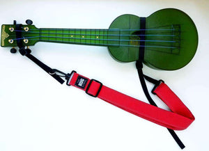 Ukulele Strap, The Hug Strap with Nylon Cinch, Uke Strap, No Need for Strap Buttons, Red Ukulele Strap