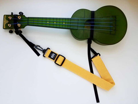 Ukulele Strap, The Hug Strap, Yellow Canvas