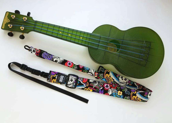 Ukulele Strap All in One HUG Catrina Chiquita Day of the Dead