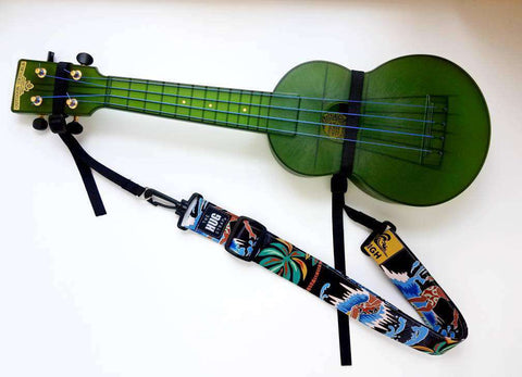 Ukulele Strap Hug Strap No Buttons Road to Hana