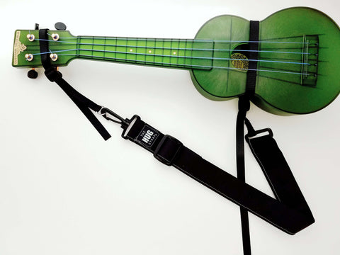 Hug Strap for Ukulele Black Canvas