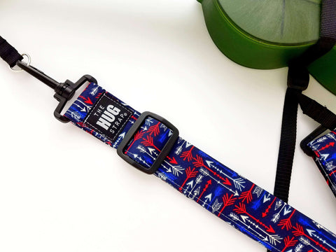 Hug Strap for Ukulele Red White and Blue Arrows