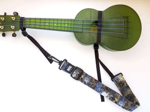 Hug Strap for Ukulele Blue and Gray Cosmos