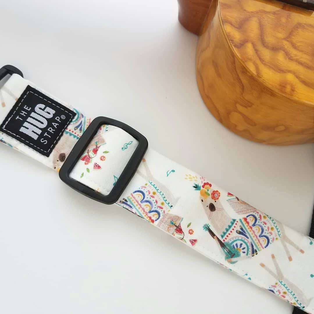 The Hug Strap for Ukulele Llamas Playing Ukulele