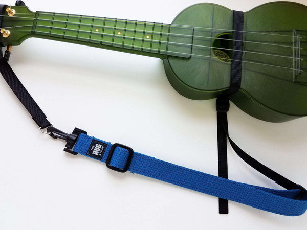 "The Hug Strap for Ukulele, Hunter Green 1"" Webbing"