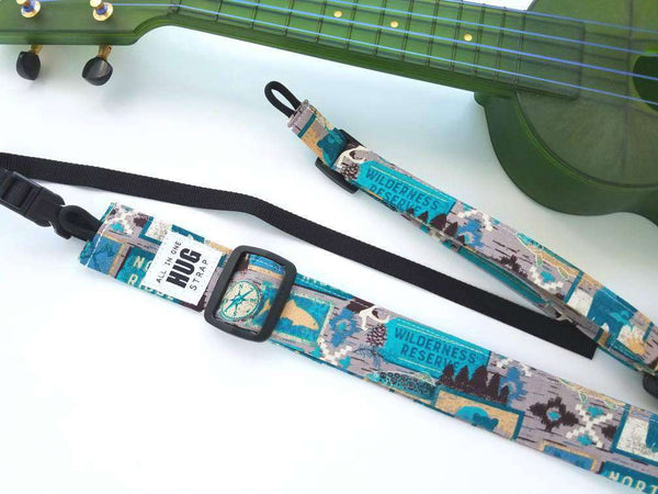 Ukulele Strap All in One Hug Wilderness Reserve