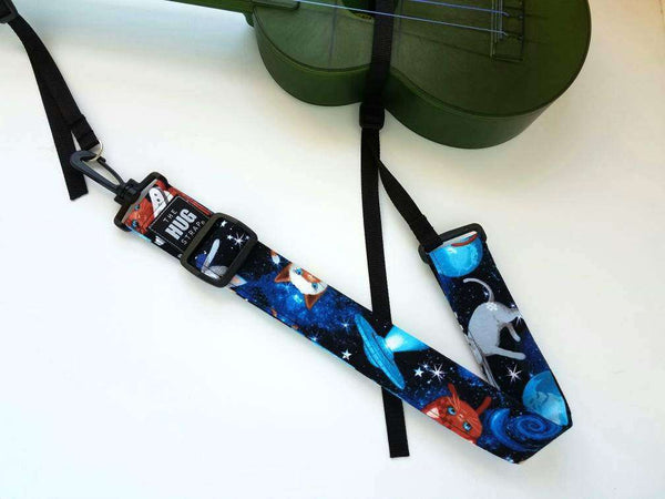 Ukulele Strap The Hug Strap Space Cats No Drill Uke Strap