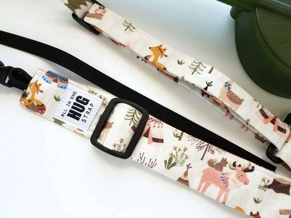 Ukulele Strap, All in One Hug Strap, Woodland Animals, Works with or Without Strap Buttons