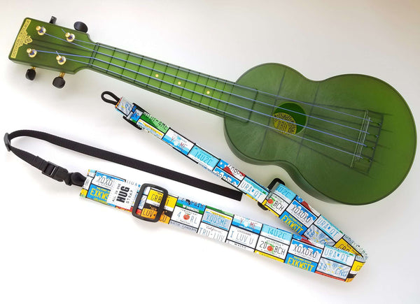 Ukulele Strap All in One Hug Vanity Plates