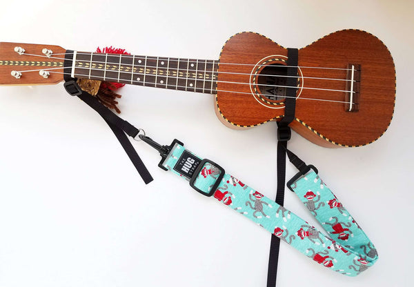 Hug Strap Kids Ukulele Strap No Button Sock Monkeys