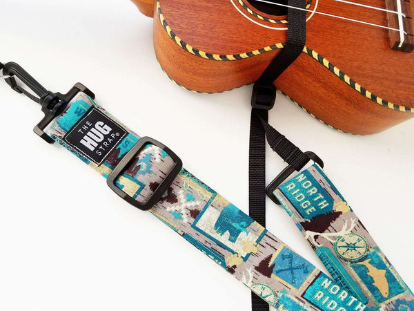 Hug Strap for Ukulele Wilderness Print