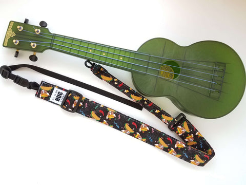 Ukulele Strap - All in One Hug Taco Dogs