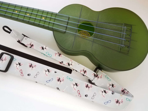 Ukulele Strap All in One Hug French Bulldogs
