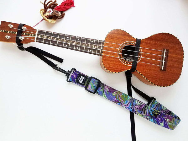 The Hug Strap for Ukulele - Purple and Green Oilslick