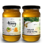 Combo - Natural Wild Honey + Ginger Infused Honey (2 x 270gm)