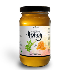 Tulsi Infused Raw Organic Honey - 530 gm