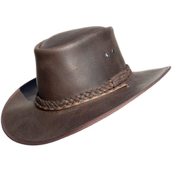 Bushman Brown Waxy Leather Hat
