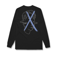X Face Long Sleeve Tee (Black)