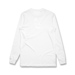 X Face Long Sleeve Tee (White)