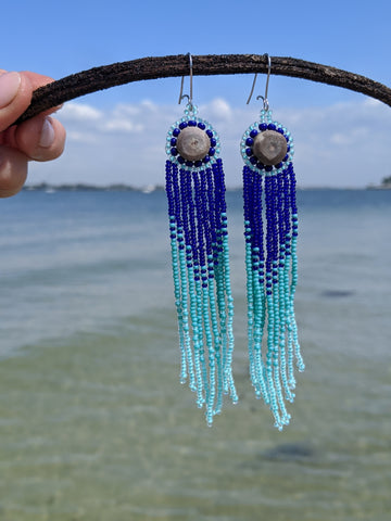 Clearwater Beaded Antler Earrings