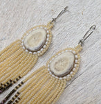 Dawn Beaded Antler Earrings