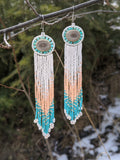 Evangelene Beaded Antler Earrings