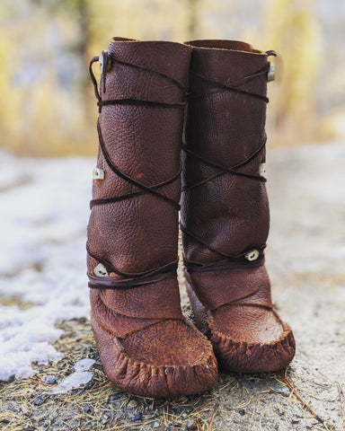 moccasins, men's and women's shoes, handmade shoes, handmade moccasins, leather boots, winter boots