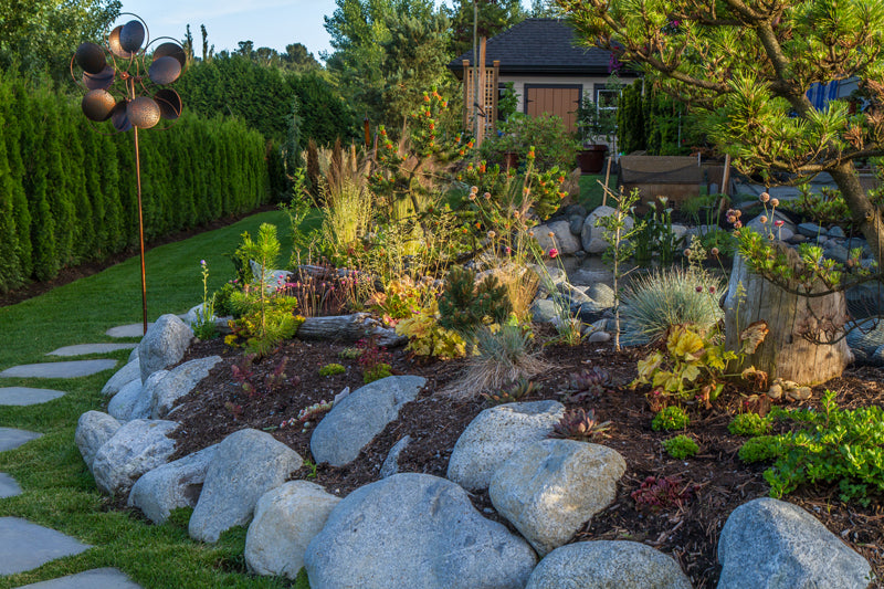 gorgeous backyard landscaping in south surrey, bc