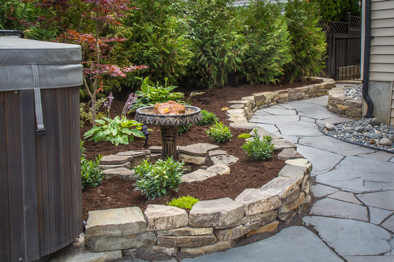 garden path and garden by scotty's landscaping in south surrey