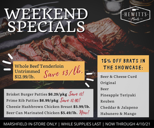 Weekend Specials - Now Through 4/10/21
