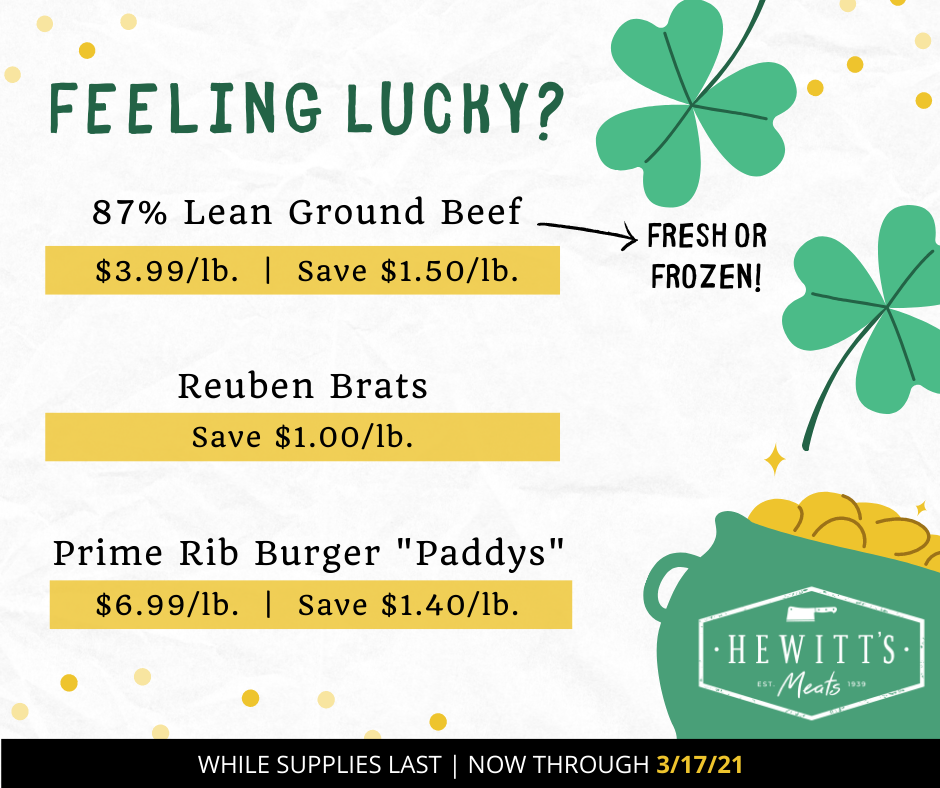 Deal Ended - St Patrick's Day 3/15-3/17/2021