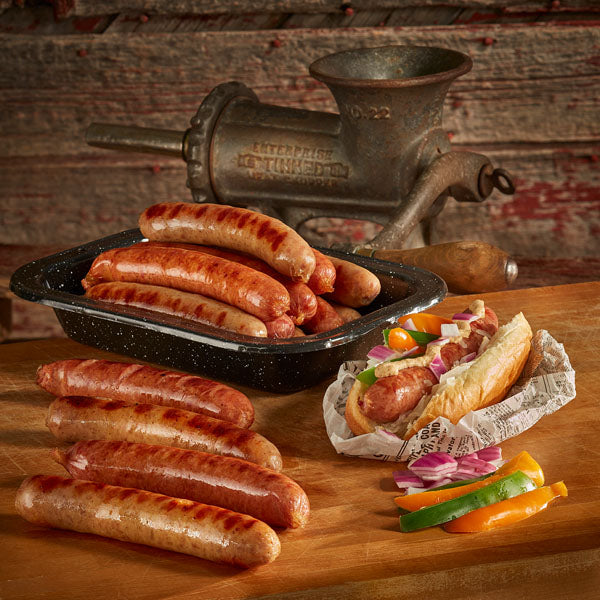 Pre-Cooked and Smoked Brats - 4 Pack