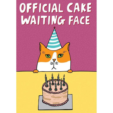 ABLE AND GAME Card - Cake Waiting Face