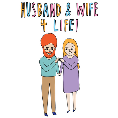 ABLE AND GAME Card - Husband & Wife 4 Life