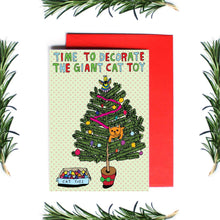Load image into Gallery viewer, ABLE AND GAME Christmas Card - Giant Cat Toy