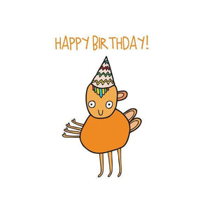 ABLE AND GAME Kids' Birthday Card - Orange Alien