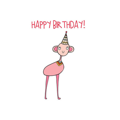 ABLE AND GAME Kids' Birthday Card - Pink Alien