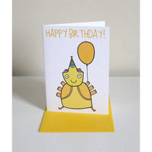 Load image into Gallery viewer, ABLE AND GAME Kids' Birthday Card - Yellow Alien
